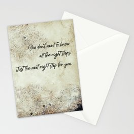 The next right step Stationery Cards