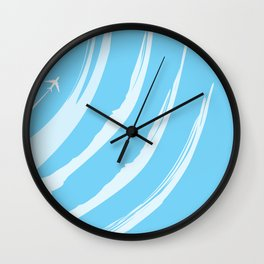 Leaving on a Jet Plane Wall Clock