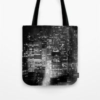 san francisco Tote Bags featuring san francisco by Bunny Noir