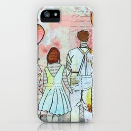 Balloons and Love iPhone Case