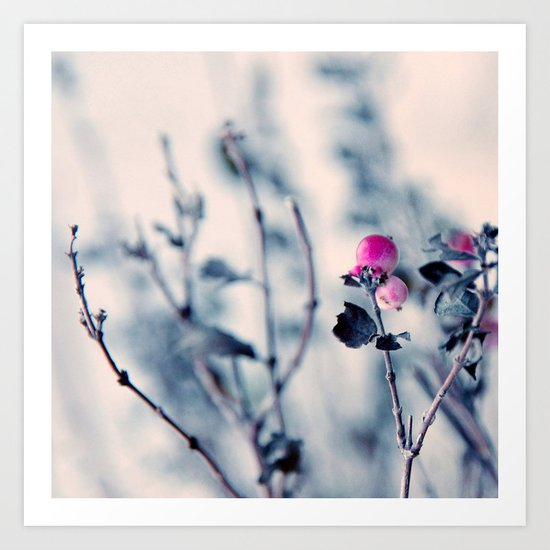 pink berry Art Print