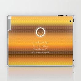 Chakra Series Manipura(Third Chakra)Affirmation Laptop & iPad Skin
