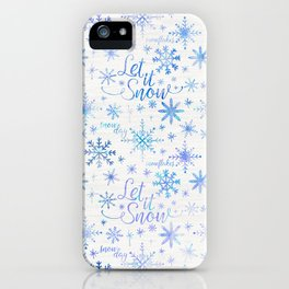 Let It Snow Winter Pattern iPhone Case