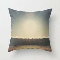 Frozen Reflection Throw Pillow