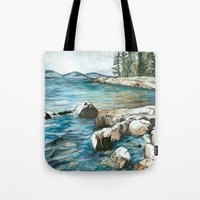 maine Tote Bags featuring Maine by Micaela Payne
