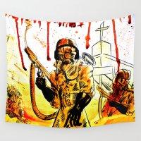 acid Wall Tapestries featuring Acid Rain by Joseph Bradshaw