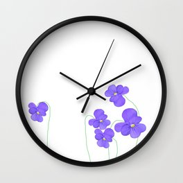 purple beauties Wall Clock