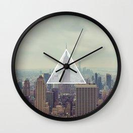 New York Triangle Wall Clock