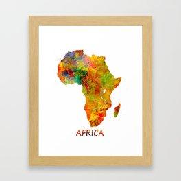 Africa map colored Framed Art Print