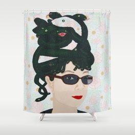 Portrait Of Ms Bueves (Medusa Snake Lady) Shower Curtain