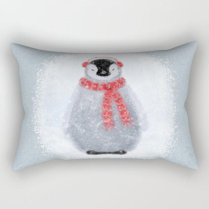 Chilly Little Penguin Rectangular Pillow