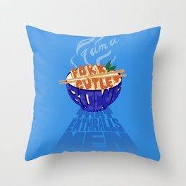 Pork Cutlet Bowl Fatale Throw Pillow