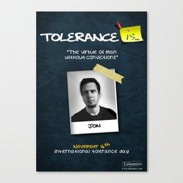 Tolerance Poster Canvas Print