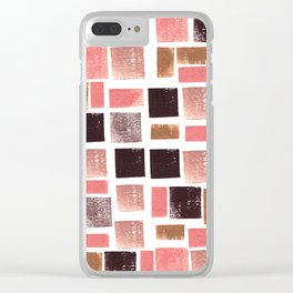 Rosa viejo Clear iPhone Case