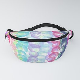 Modern abstract pink teal lilac watercolor dots Fanny Pack