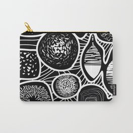 Black and white pattern - linogravure style Carry-All Pouch