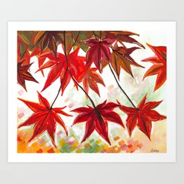 Leaves Painting - Autumn / Fall Art Art Print