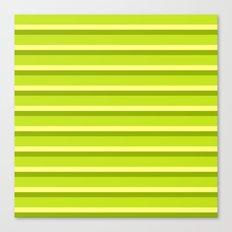 Lime Green Stripes Canvas Print