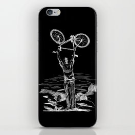 Bike Contemplation iPhone Skin