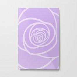 Rose Blossoming in Lavender Metal Print