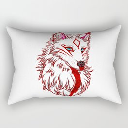 Torroch - Giant White Wolf Rectangular Pillow