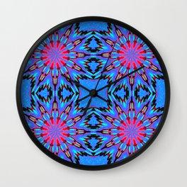 Colorful Blue Color Burst Wall Clock