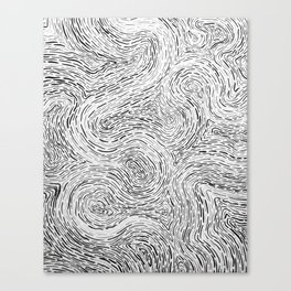 Organic Strokes Canvas Print