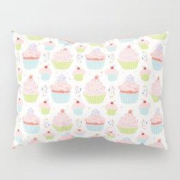 Pastel Cupcakes Food Vector Pattern Pillow Sham