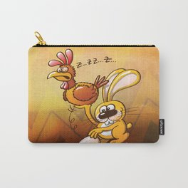 Easter Bunny Stealing an Egg from a Hen Carry-All Pouch