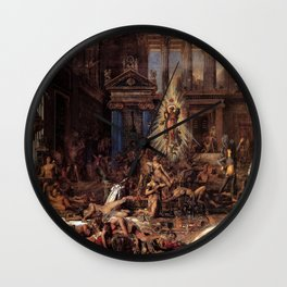 Gustave Moreau - The Suitors Wall Clock