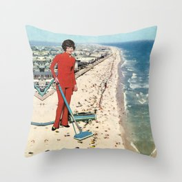 Dry Cleaning Throw Pillow