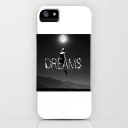Dreams and moon iPhone Case