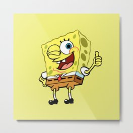 Spongebob OK! Metal Print