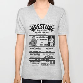 #3 Memphis Wrestling Window Card Unisex V-Neck