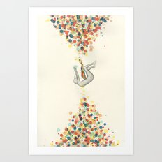 A Perceptible Hesitation Art Print