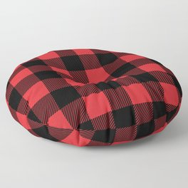 Red and Black Buffalo Plaid Floor Pillow
