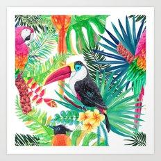 Tropical Gathering Art Print