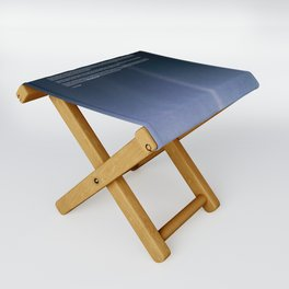 Pale Blue Dot — Voyager 1 (2020 rev.) Folding Stool