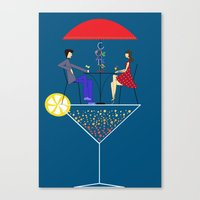 cocktail Canvas Prints featuring Cocktail by Aleksandra Mikolajczak