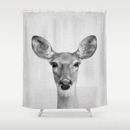 Doe - Black & White Shower Curtain