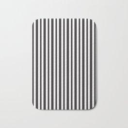 Vertical Black and White Stripes Bath Mat