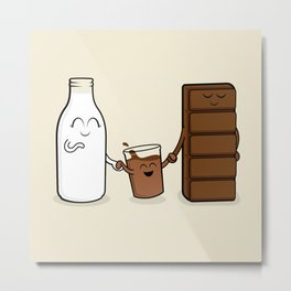 Chocolate + Milk Metal Print