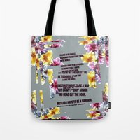 warrior Tote Bags featuring warrior by gasponce