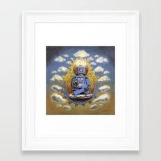 Buddha Bot v5  Framed Art Print