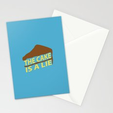 The Cake Is A Lie (Blue Version) Stationery Cards