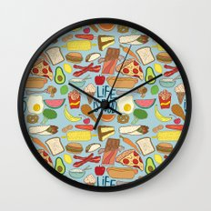 LIFE IS FOOD Wall Clock