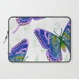 Summery Botanical Butterflies Laptop Sleeve
