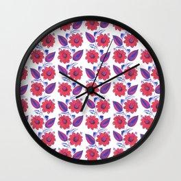 "Flowers, ""Petrykivka"" Wall Clock"