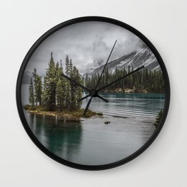 Landscape Maligne Lake Photography | Alberta | Canada Wall Clock