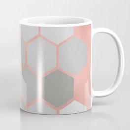 Honeycomb on Rose Gold Coffee Mug